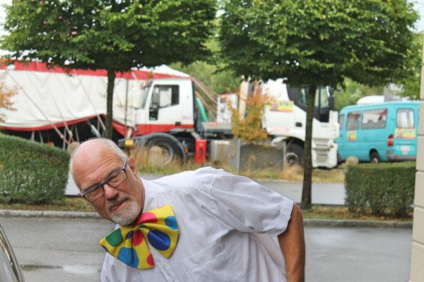 Hansjörg Ammann; Auftritt im Zirkus Stey Dorfplatz Kölliken am 17. August 2018