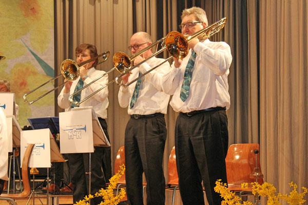 Johanna Foltrauer, Daniele Fabbro, Albert Furrer; Jahreskonzert 29. März 2014 Mehrzweckhalle Kölliken