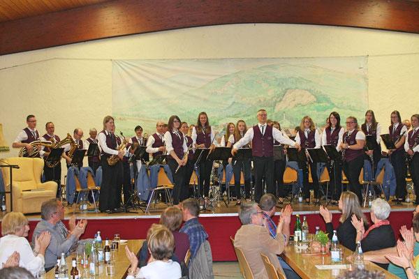 Blasmusikabend Utzenfeld (D) 28.04.2018; MVU dirigiert von Ingo Ganter