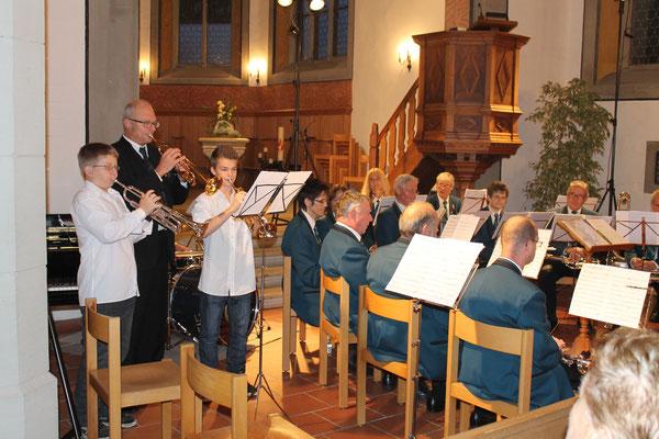 Roman Lüscher und Jens Arnold (Jungmusikanten); Kirchenkonzert 4. November 2012 reformierte Kirche Kölliken