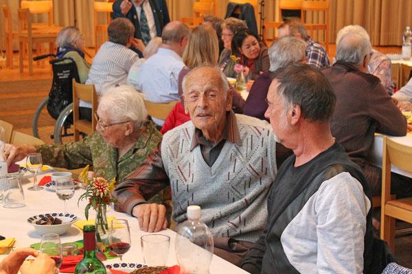 Geburtstagskonzert 28. Oktober 2018 Arche Kölliken; Jubilar Rudolf Dähler, 94 Jahre