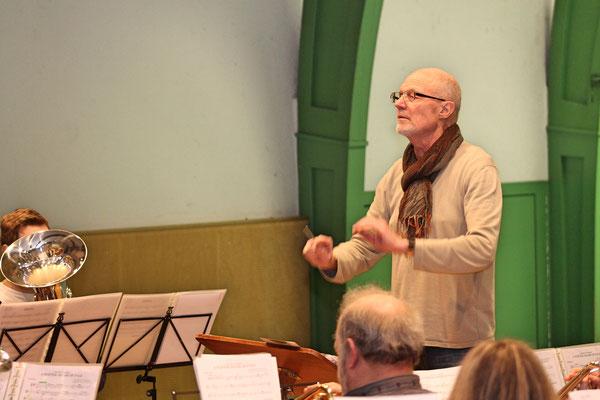 Hauptprobe 20.03.2019, MZH Kölliken, für Jahreskonzert 23.03.2019; Dirigent Hansjörg Ammann