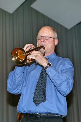 Jahreskonzert 19. März 2005; Hansjörg Ammann 20 Jahre MGK-Dirigent; Trompetensolo Hansjörg Ammann