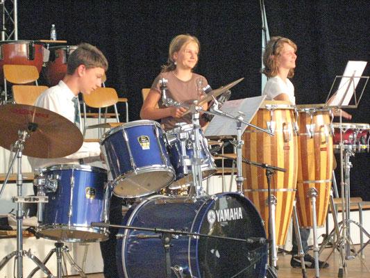 Claudius Ammann, Linda Ammann, Ursina Ammann; Musiktag Muhen 13. Juni 2010