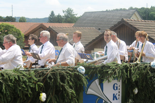 Kurt Baumann, Hans Boner, Matthias Zeltner, Johanna Foltrauer; Jugendfestumzug 24.06.2016