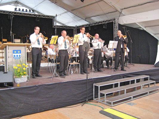 v.l.n.r. René Erne, Ruedi Schmid, Daniel Widmer, Robert Messer, Hansjörg Ammann; Musiktag Muhen 13. Juni 2010
