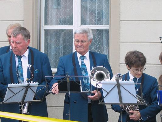 Kurt Baumann, Max Hächler, Beatrice Messer; Kreiseleinweihungsfest «Sonnelkreisel» 20. Juni 2009