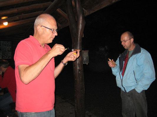 Hansjörg Ammann, Robert «Röbi» Messer; Bräteln 2. Juli 2012 Waldhütte Salamander Kölliken
