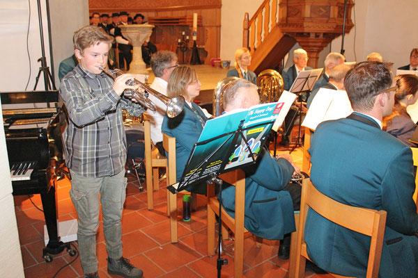 Kirchenkonzert mit dem Jodlerklub 9. Dezember 2018; Trompetensolo «House of rising sun» durch Noé Maibach