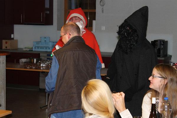 Röbi Messer, Sankt Nikolaus Lorenz Halder, Schmutzli Sämi Wälty; Jahresschlusshock 5. Dezember 2015 Matte Holziken