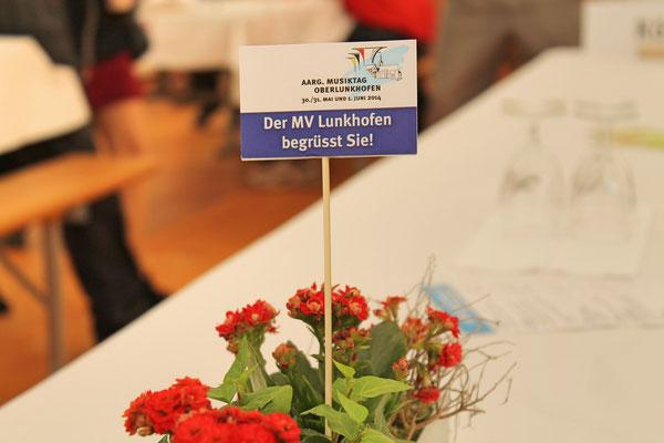 Kantonaler Aargauischer Musiktag 1. Juni 2014 Oberlunkhofen mit Ehrung von Yvonne Gretsch (Kantonale Veteranin AMV; 25 Jahre MGK) und Kurt Baumann (Eidg. Veteran SBV; 35 Jahre MGK)