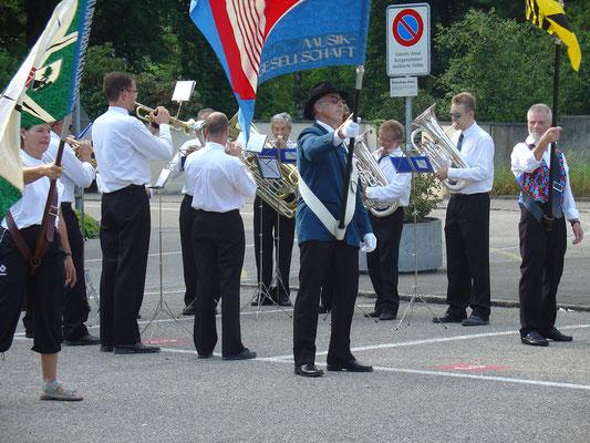 Empfang der Jodler am 28. Juni 2008 am Bahnhof Kölliken