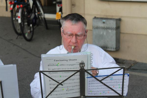Kurt Baumann, Cornet; Beizlifest Kölliken 8. September 2012, Ständchen beim Gemeindehaus