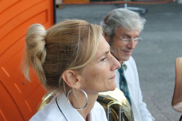Carolina Ammann, Sepp Ottiger; Beizlifest Kölliken 8. September 2012, Ständchen beim Gemeindehaus
