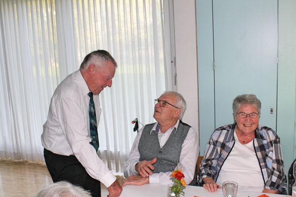 Geburtstagskonzert am 27. Oktober 2019 in der Arche Kölliken; Kurt Baumann im Gespräch mit Gästen