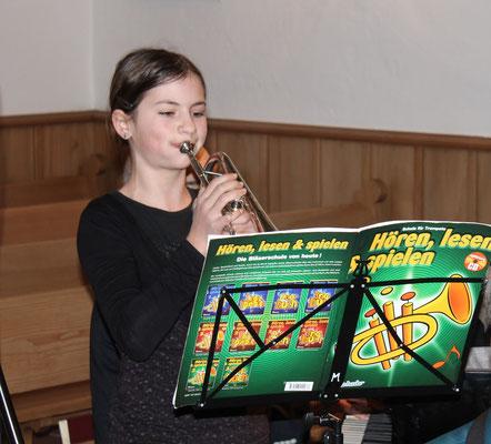 Jungbläserin Annamaria Gamp, Trompete; Adventskonzert 11. Dezember 2016 Reformierte Kirche Kölliken