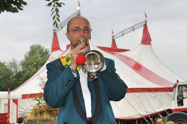 Röbi Messer; Auftritt im Zirkus Stey Dorfplatz Kölliken am 17. August 2018