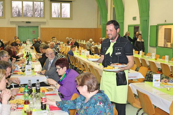 Jahreskonzert vom 23. März 2019 MZH Kölliken; vor dem Hörerlebnis die kulinarischen Highlights