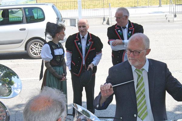 Empfang der Turner vom Eidg. Turnfest Bahnhof Kölliken 23. Juni 2019; Dirigent Hansjörg Ammann