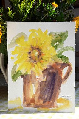 """""""Sonnenblume"""", Aquarell 30x40"""