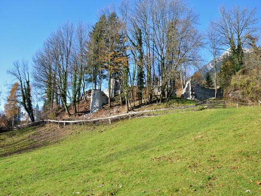 Nun sind der Zwinger, das Osttor und die seitlichen Stützpfeiler wieder gut erkennbar.