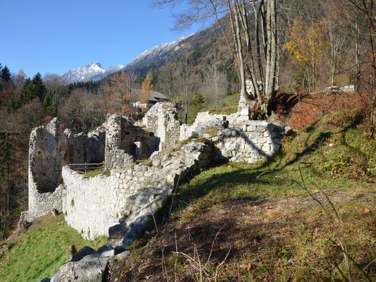 Die Baustruktur der einstigen Burganlage erschließt sich auch für Laien immer besser.