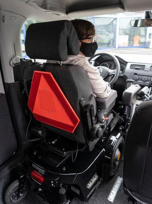 Heckeintieg für Selbstfahrer