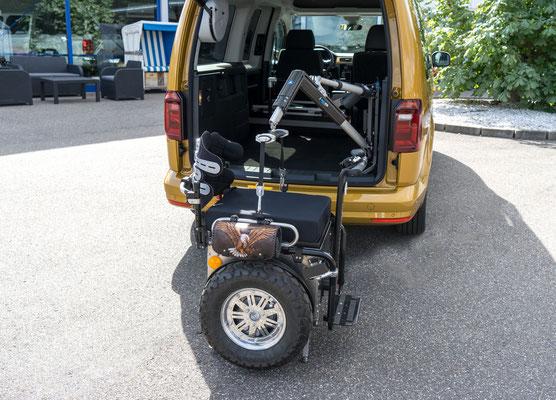 VW Caddy Selbstfahrerumbau