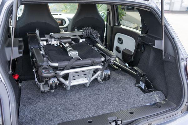 Ergoflix Verladung im Renault Twingo
