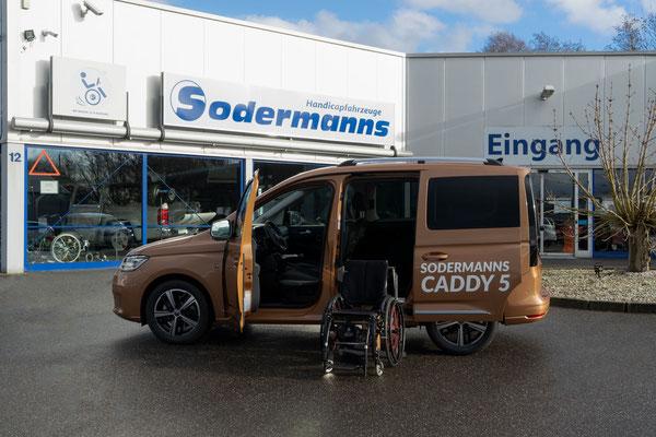 behindertengerechter VW Caddy 5 Selbstfahrerumbau