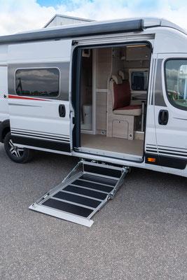 behindertengerechtes Fiat Wohnmobil für Selbstfahrer