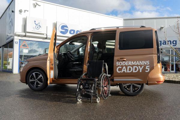 behindertengerechter Volkswagen Caddy 5 Selbstfahrerumbau