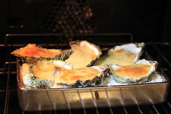 Les huîtres sont cuites