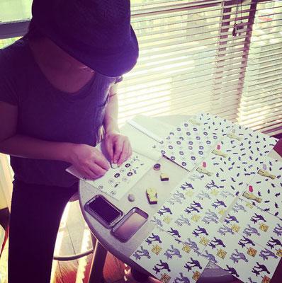 オリジナル /スタンプ/ ハンコ/デザイン/千葉/東京/郵送/ 価格/オシャレ/ロゴ/手作り/ステッカー/Tシャツ/ショップカード/領収証