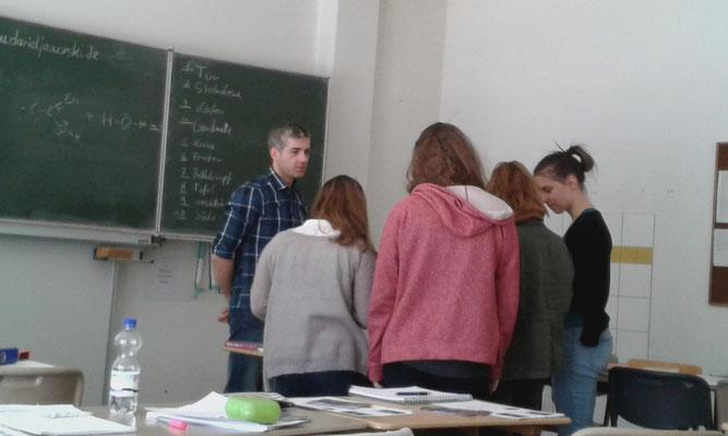 Kurs am #Engelsburggymnasium