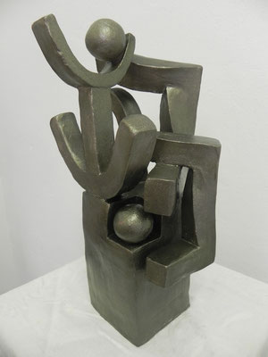 """Force nature""    bronze doré        33cm / 18cm       180 euros"