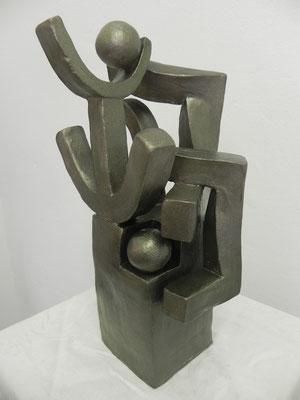 """Force nature""    bronze doré        33cm / 18cm       250 euros"
