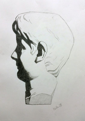 Grafito 40 x 30 cm. Olalla Juez (Alumna de 1º año).