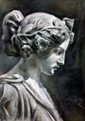Copia del yeso. Pastel 65 x 50 cm. Antonio Ángel Ortíz (Alumno 5º año)