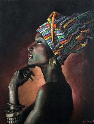 María Cuesta (Africa Woman, pastel 65 x 50 cm)