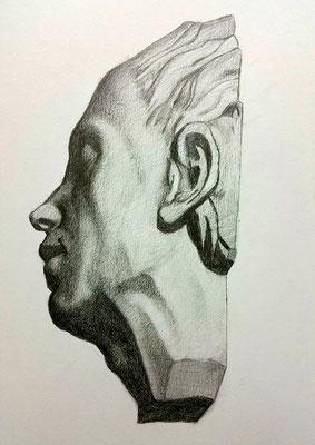Grafito 40 x 30 cm. Elisa gamero (Alumna de 1º año).