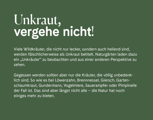 Wienss Innenausbau GmbH - Innenausbau, Objektbau, Museumsbau - hier: Gartenmuseum Lennestadt - www.wienss-innenausbau.de - Gartenalphabet U wie Unkraut