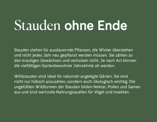 Wienss Innenausbau GmbH - Innenausbau, Objektbau, Museumsbau - hier: Gartenmuseum Lennestadt - www.wienss-innenausbau.de - Gartenalphabet O wie ohne Ende