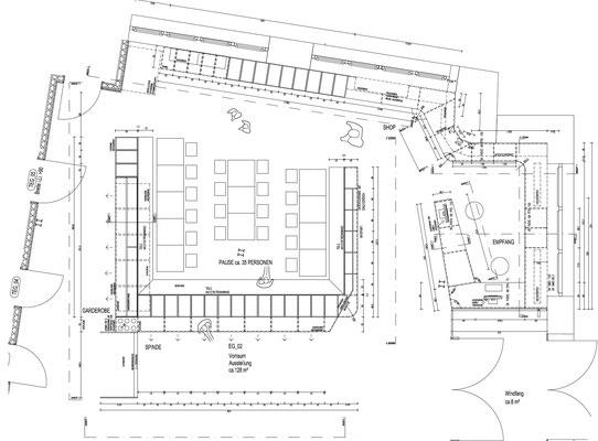 Wienss Innenausbau GmbH - Forscherfabrik Schorndorf - Innenausbau, Objektbau, Museumsbau Plan von oben