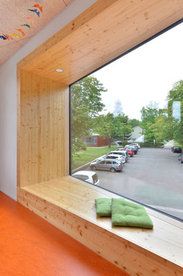 Wienss Innenausbau GmbH - Innenausbau, Objektbau, Umbau Rinnenäckerschule Waiblingen - Fenster mit Aussicht