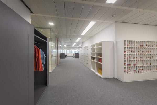 Umbau GENO Haus Stuttgart - Wienss Innenausbau GmbH - Postverteilerschrank für die Zentrale