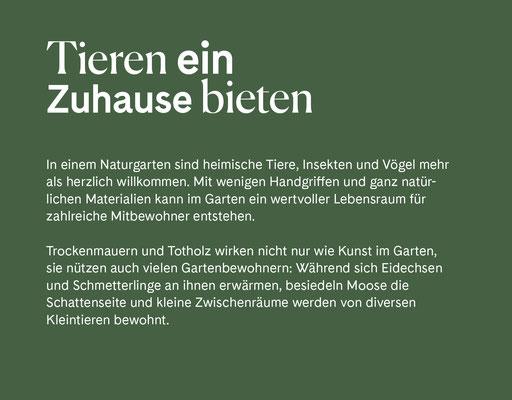 Wienss Innenausbau GmbH - Innenausbau, Objektbau, Museumsbau - hier: Gartenmuseum Lennestadt - www.wienss-innenausbau.de - Gartenalphabet T wie Tiere