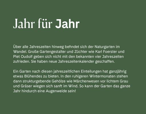 Wienss Innenausbau GmbH - Innenausbau, Objektbau, Museumsbau - hier: Gartenmuseum Lennestadt - www.wienss-innenausbau.de - Gartenalphabet J wie Jahr
