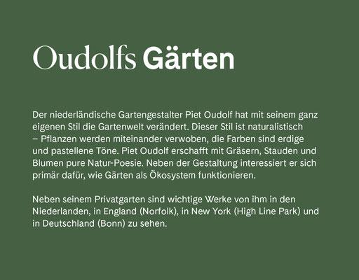 Wienss Innenausbau GmbH - Innenausbau, Objektbau, Museumsbau - hier: Gartenmuseum Lennestadt - www.wienss-innenausbau.de - Gartenalphabet O wie Oudolf