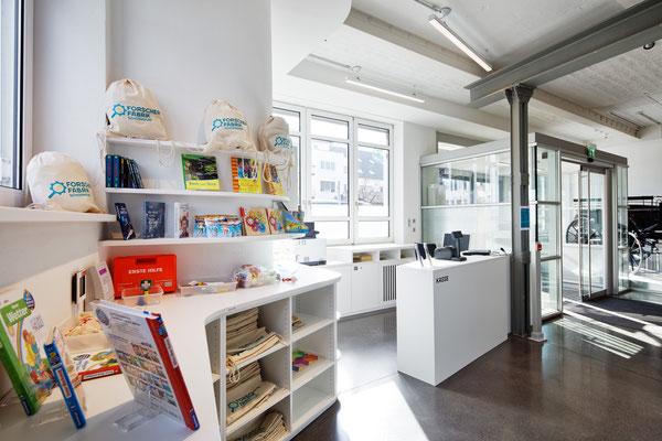 Wienss Innenausbau GmbH - Forscherfabrik Schorndorf - Innenausbau, Objektbau, Museumsbau - Akustiktrennwände - Foyer & Empfang